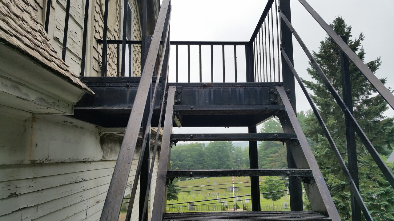 Grasmere Town Hall Fire Escape, Goffstown, NH