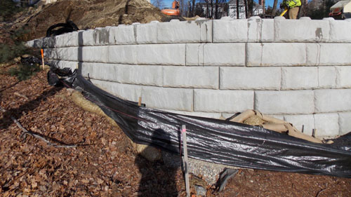 Retaining Wall at Branca Residence, Shrewsbury, MA