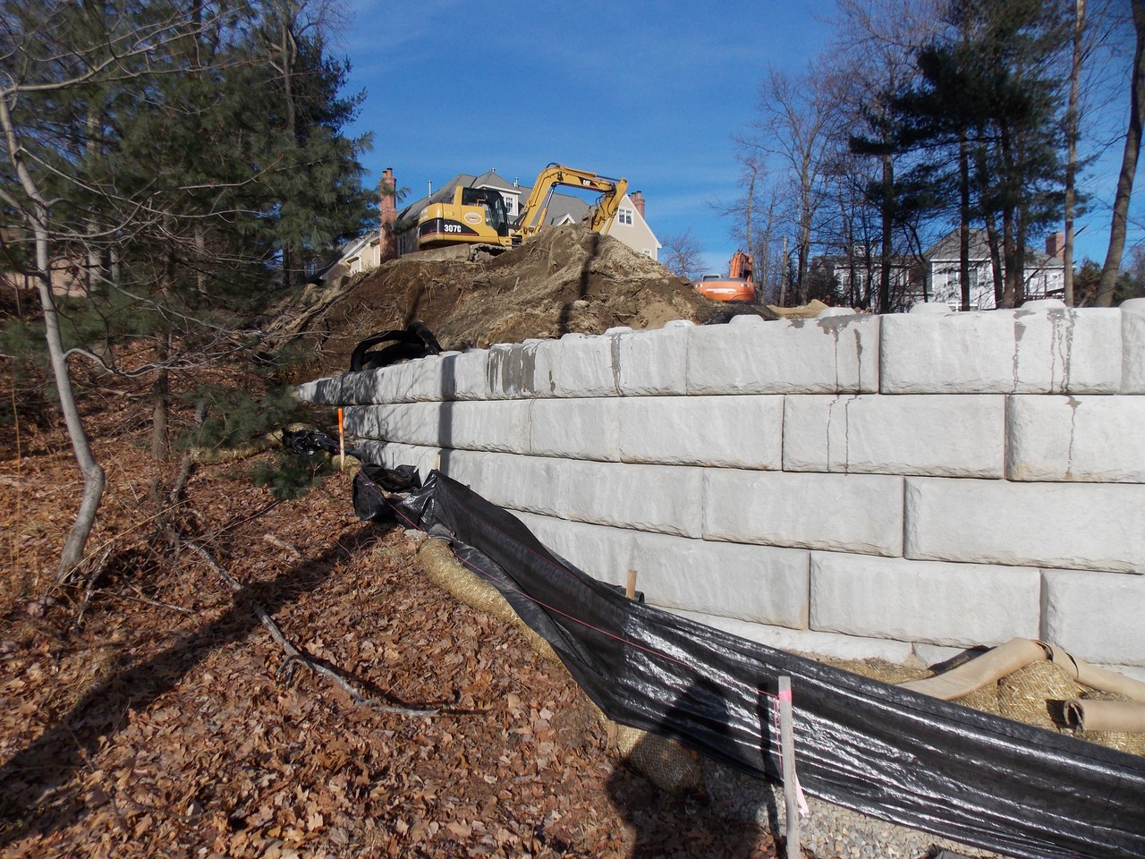 Retaining Wall at Branca Residence, Shrewsbury, MA