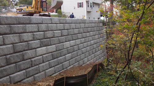 Gately Duplex Retaining Wall, Pine Street, Woburn, MA