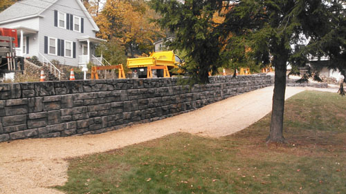 North Street Retaining Wall Design, Laconia, NH