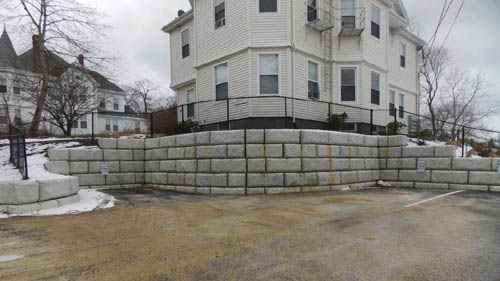 The Armory Retaining Wall Design, Plymouth, MA